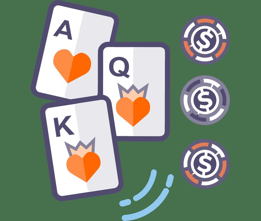 Játsszon Háromlapos póker Online - a 32 legjobban fizető Mobil Kaszinó 2021